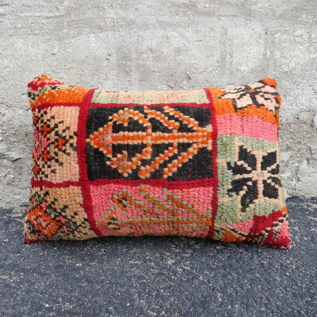 Islamic Valencia' Moroccan Berber Wool Pillow For Sale - Image 3 of 5