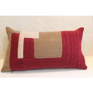 100% Cashmere Patchwork Throw Pillow Preview