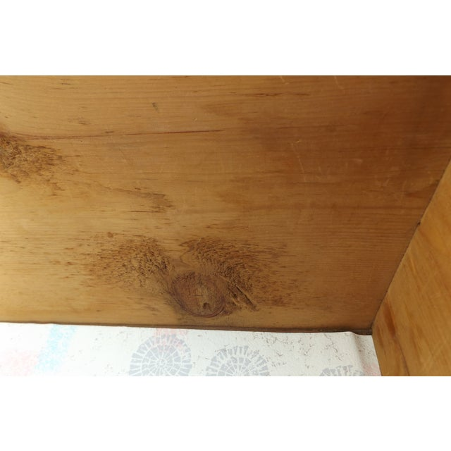 Primitive Antique Dovetailed Pine Hope Chest For Sale - Image 9 of 10