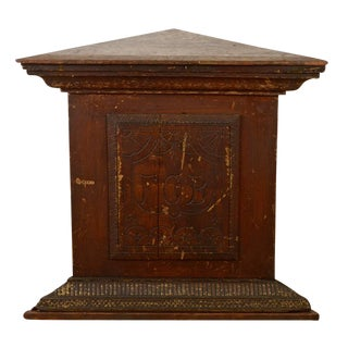 Knights of Pythias Carved Pedestal Circa 1890