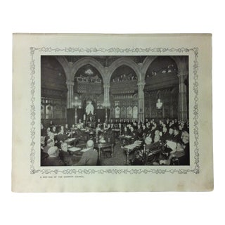 """1906 """"A Meeting of the Common Council"""" Famous View of London Print For Sale"""