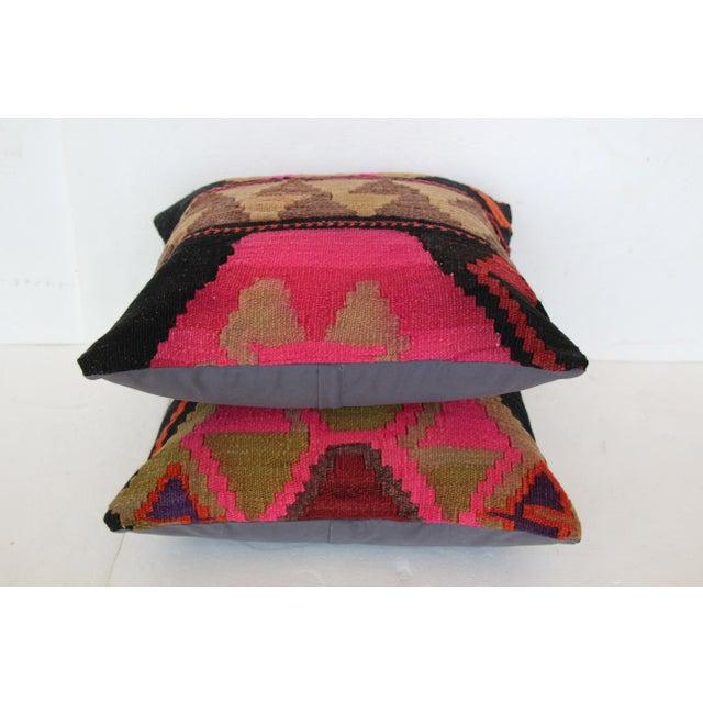 Turkish Kilim Cushions - a Pair - Image 4 of 4