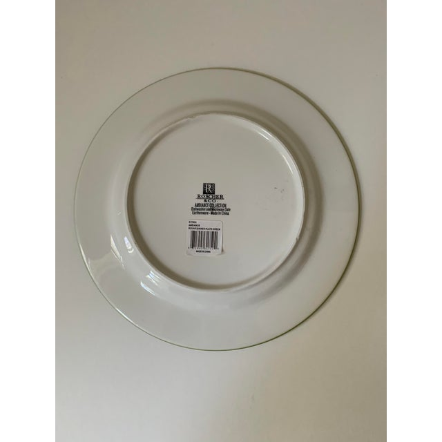 Roscher Ambiance Collection Green Dinner Plates - Set of 4 For Sale In New York - Image 6 of 9