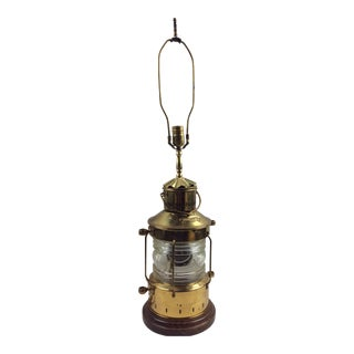 1960s Vintage Brass Ships Lantern Lamp For Sale