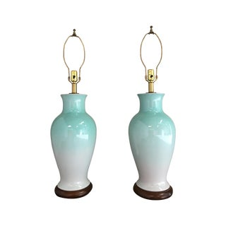 Vintage Mid-Century Ceramic Lamps - A Pair