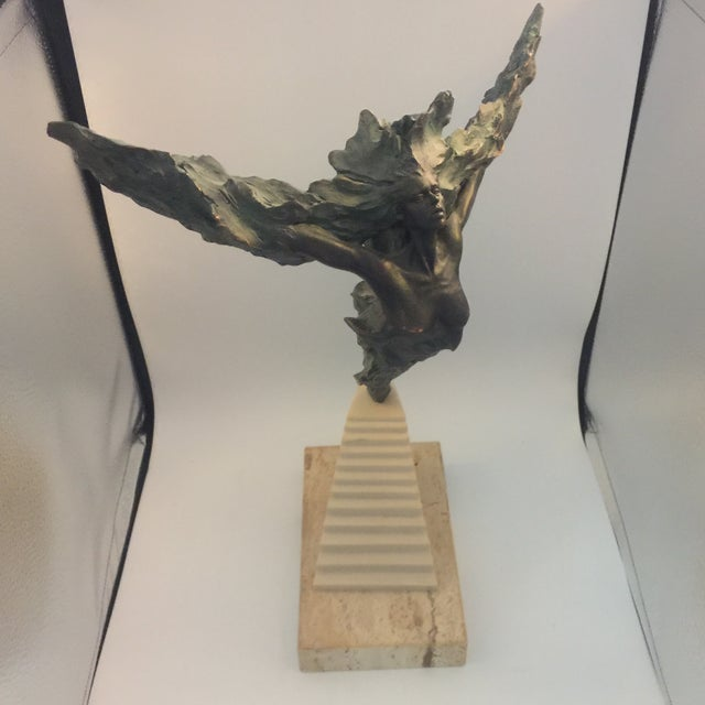 Josep Bohill Freedom Flying Lady Sculpture For Sale - Image 5 of 9