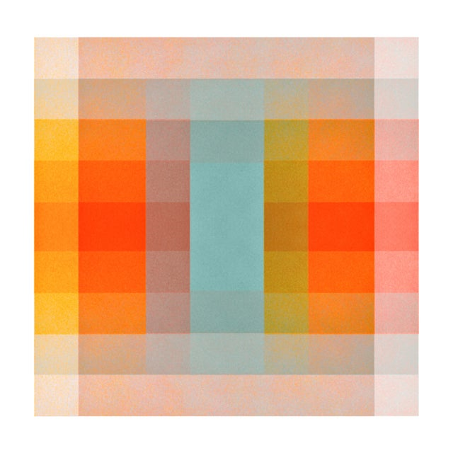 Not Yet Made - Made To Order Jessica Poundstone Color Space Series 40: Turquoise Persimmon & Saffron Print For Sale - Image 5 of 5