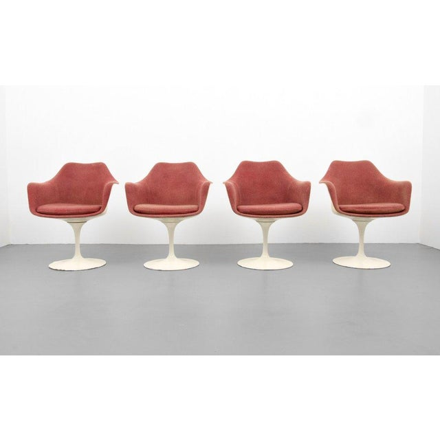 Eero Saarinen for Knoll Inc Tulip Arm Chairs, Set of 4 - Image 7 of 9