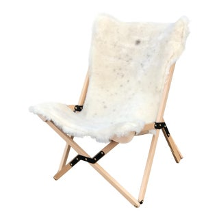 Texas Rover Shearling Humphrey Chair For Sale