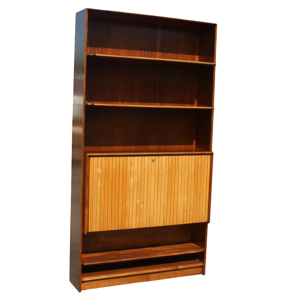 Perfect Mid Century Bookcase With Hide Away Mini Bar