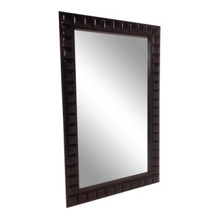 Modern Designer Wooden Mirror With Expresso Finish