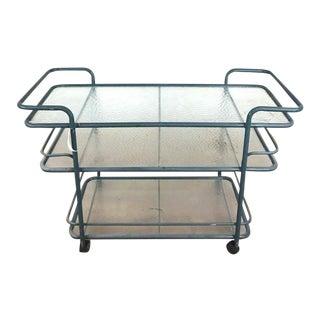 Brown Jordan Mid-Century Modern Metal and Glass Beverage / Bar Cart