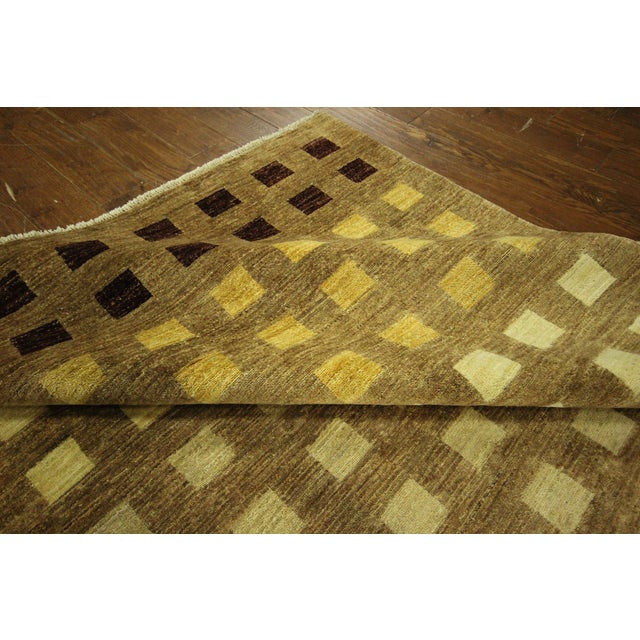 "Gabbeh Checkered Wool Rug - 7'9"" x 9'8"" - Image 9 of 9"
