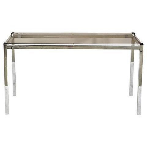Mid-Century Modern 1970s Chrome Console Table For Sale - Image 3 of 6