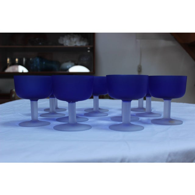 12 Italian Glass Goblets For Sale - Image 4 of 11