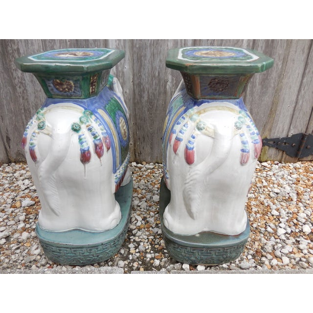 Vintage Elephant Garden Stool - Pair - Image 5 of 7