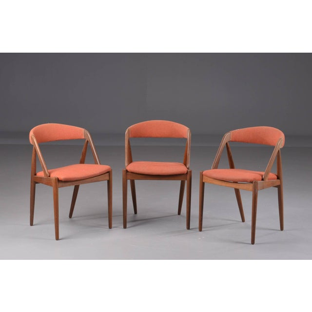 Three A-Frame Model 31 Chairs by Kai Kristiansen for Schou-Andersens Møbelfabrik For Sale In Boston - Image 6 of 6