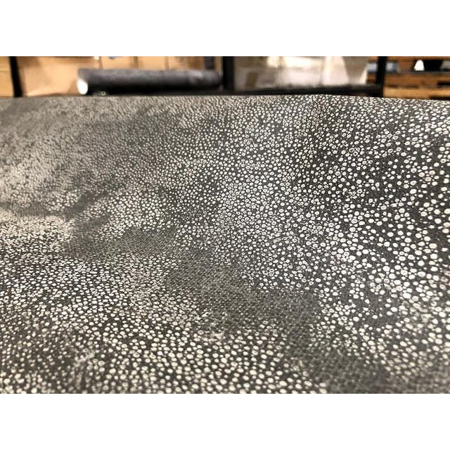 Contemporary Textured Black Faux Shagreen Patterned Wallpaper For Sale - Image 3 of 6