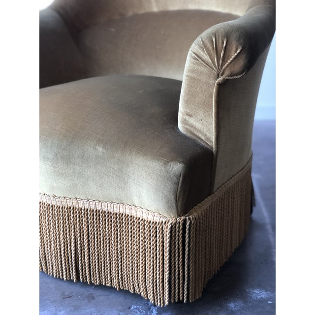 Velvet Crapaud Chair For Sale - Image 4 of 7