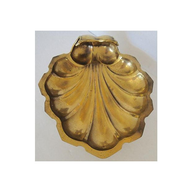 Leaf Shaped Solid Brass Plate - Image 6 of 8