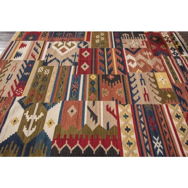 "Apadana - Modern Kilim Rug, 8'5"" x 9'9"" For Sale In New York - Image 6 of 6"
