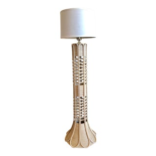 Southbeach Style Rattan Floor Lamp For Sale