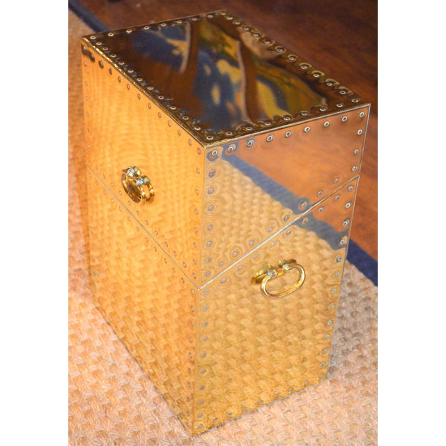 Sarreid Ltd. Studded Brass Side Table - Image 9 of 11