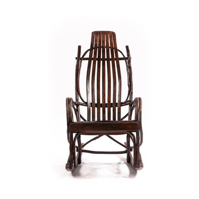 Early 20th-century Adirondack Childs rocking chair.