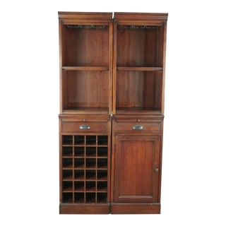 Shabby Chic Pottery Wooden Barn Bar Hutch