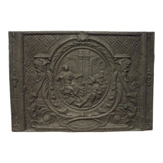 A Large and Rare Period Louis XIV Fireback from France For Sale
