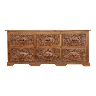 Netorli Anglo Indian Carved Dresser For Sale