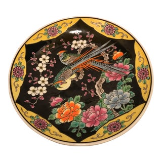 Decorative Chinoiserie Style Ceramic Plate For Sale