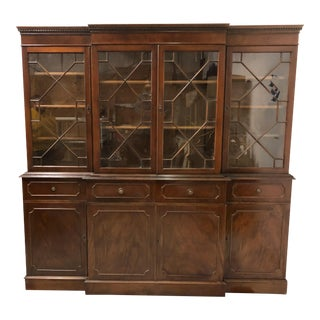 1940s English Mahogany Library Cabinet