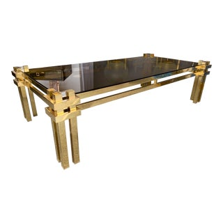 Brass Coffee Table by Romeo Rega. Italy, 1970s For Sale