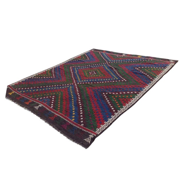 "Vintage Turkish Kilim Rug - 8'4"" x 9'4"" For Sale"
