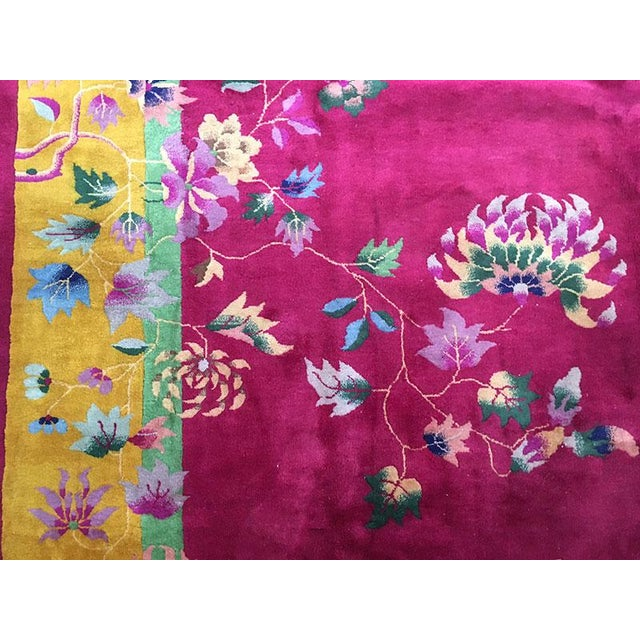 1920s 1920s Vintage Nichol Art Deco Chinese Rug - 9′ × 11′4″ For Sale - Image 5 of 8