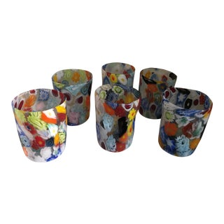 "Acqua ""Goto"" Murrisa Glasses in Vetro DI Murano, Italy - Set of 6 For Sale"