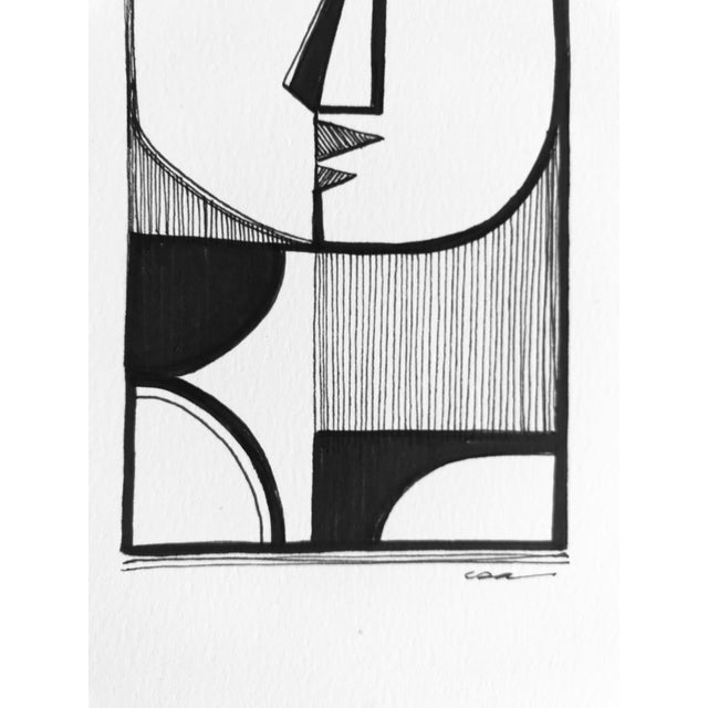 "2010s ""Figure Man"" Original Drawing For Sale - Image 5 of 7"