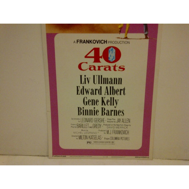 """""""40 Carats"""" Vintage Movie Poster For Sale - Image 5 of 5"""