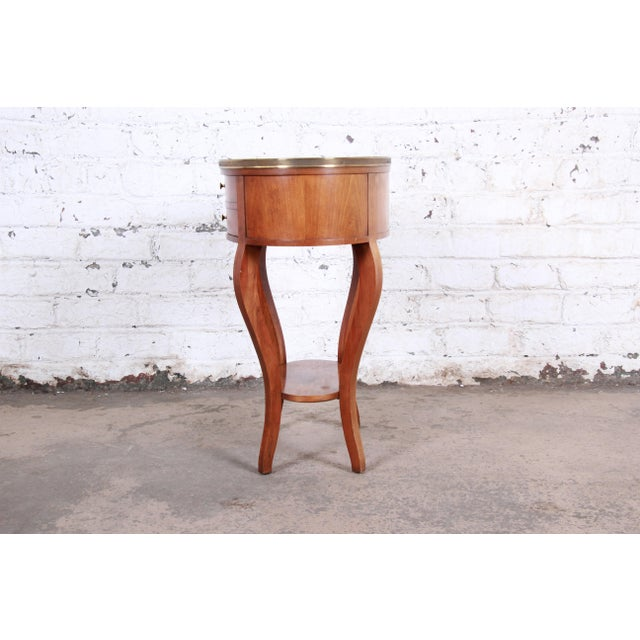Baker Furniture French Regency Mahogany and Brass Side Table For Sale - Image 10 of 13