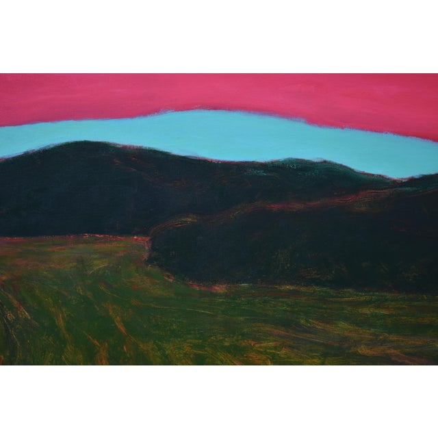 """""""Sunset Over Tilled Fields"""" Large Painting by Stephen Remick For Sale In Providence - Image 6 of 11"""