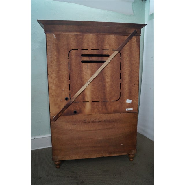 Tommy Bahama Lexington Maple Louvered Door Armoire For Sale - Image 4 of 10