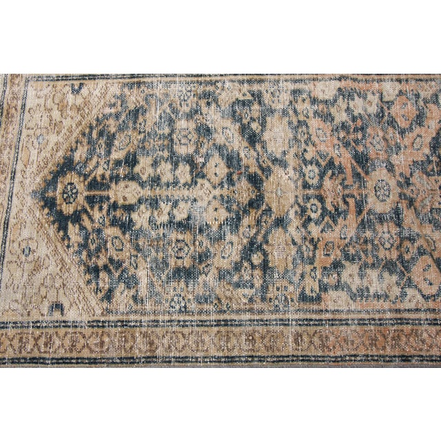 "Apadana-Antique Persian Distressed Rug, 2'4"" X 15'10"" For Sale - Image 9 of 10"