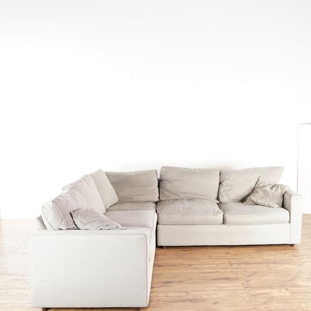 Contemporary Modern Room & Board Contemporary York Upholstered Sectional Sofa For Sale - Image 3 of 8
