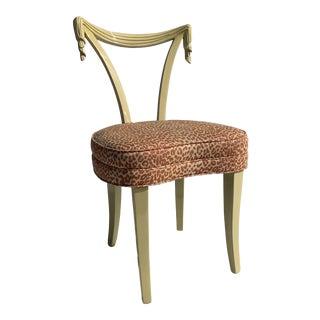 1960s Vintage Grosfeld House Draped Vanity Chair For Sale