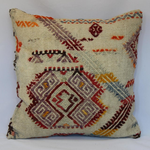 Turkish Handmade Kilim Pillow Cover - Image 2 of 11