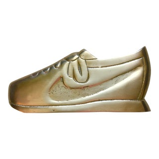 Mid-Century Brass Sneaker/Running Shoe Paperweight For Sale