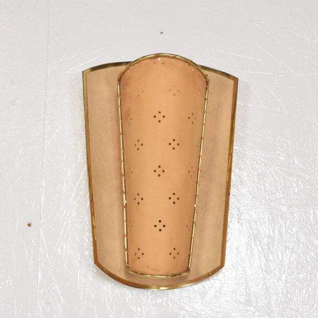 Brass Mid-Century Italian Modernist Shield Sconce For Sale - Image 7 of 7