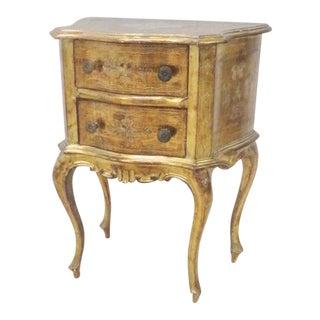 Italian Florentine Gold Gilt Nightstand