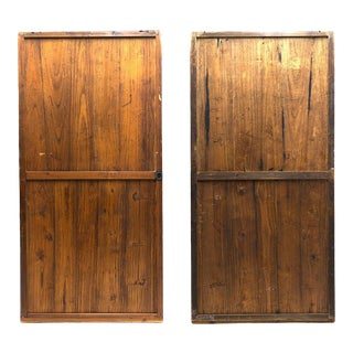 Japanese Sugi Fusuma Sliding Doors - a Pair For Sale